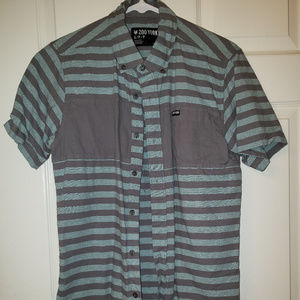 Men's short sleeve-S; Zoo york button-down shirt